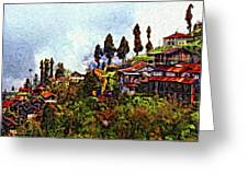 Mountain Living Impasto Greeting Card