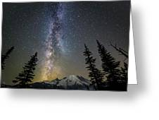 Mountain Milky Way Greeting Card