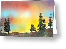 Mountain Morning In The High Sierra Greeting Card