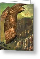 Mountain Of The Hawks Greeting Card by Wingsdomain Art and Photography