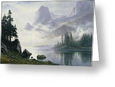 Mountain Out Of The Mist Greeting Card