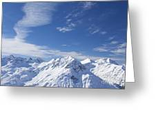 Mountain Panorama Lech Near St Saint Anton Am Arlberg Austria Greeting Card