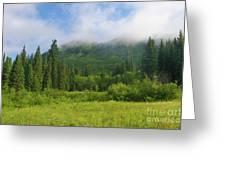 Mountain Peak Clouds Greeting Card