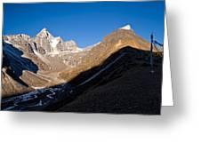 Mountain Peak, Kumuche Himal Greeting Card