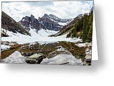 Mountain Picture Lake Agnes Greeting Card