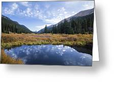 Mountain Pond And Sky Greeting Card