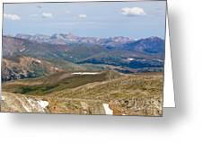 Mountain Range From Mount Evans Summit Greeting Card