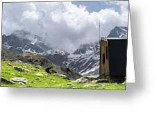 Mountain Refuge Of Mount Viso Greeting Card