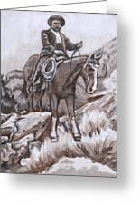Mountain Ride Historical Vignette Greeting Card