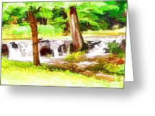 Mountain River  Greeting Card