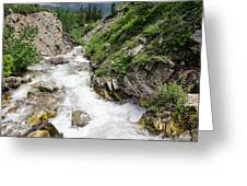 Mountain River Greeting Card by Margaret Pitcher