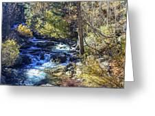 Mountain Stream In Fall Greeting Card