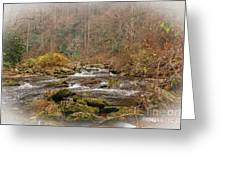 Mountain Stream With Vignette #2 Greeting Card