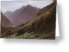 Mountain Study Greeting Card by Alexandre Calame