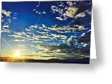 Mountain Sunset 3 Greeting Card