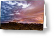 Mountain Sunset In New River Greeting Card