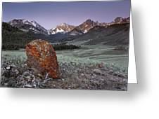Mountain Textures And Light Greeting Card