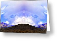 Mountain Tops In Sicily Greeting Card