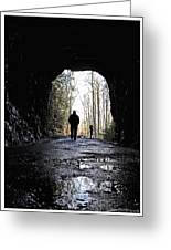 Mountain Tunnel Greeting Card