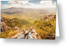 Mountain Valley Landscape Greeting Card