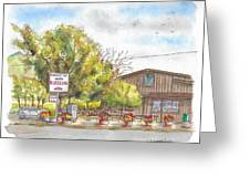 Mountain View Barbeque In Walker, California Greeting Card