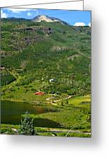 Mountain View In Colorado Greeting Card
