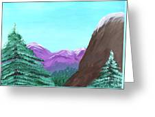 Mountain View Greeting Card by M Valeriano