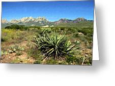 Mountain View Las Cruces Greeting Card