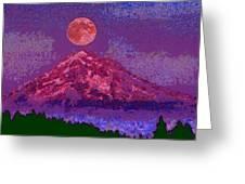 Mountain View Lit Fragmented Greeting Card