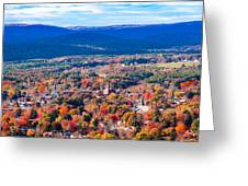 Mountain View Of Easthampton, Ma Greeting Card