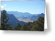Mountain View On The Chief Joseph Highway Greeting Card