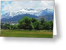 Mountain View - Reno Nevada Greeting Card