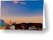 Mountain Village 2 Greeting Card