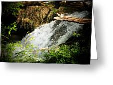 Mountain Waterfall Greeting Card