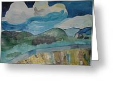Mountainous Landscape Behind Saint-paul Hospital By Van Gogh Reproduction Greeting Card