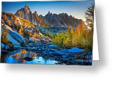 Mountainous Paradise Greeting Card