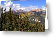 Mountains Aglow Greeting Card