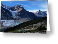 Mountains And Glaciers Greeting Card