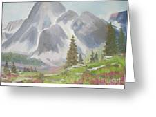 Mountains And Meadows Greeting Card