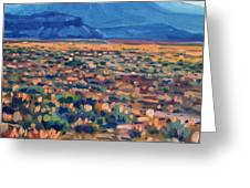 Mountains And Mesas Greeting Card