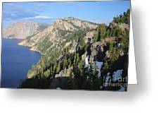 Mountains Around Crater Lake Greeting Card