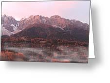 Mountains At Dawn Greeting Card