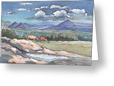 Mountains From Maleny Greeting Card