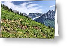Mountains In Glacier National Park 1 Greeting Card