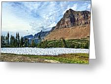 Mountains In Glacier National Park 2 Greeting Card