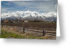 Mountains In Logan Utah Greeting Card