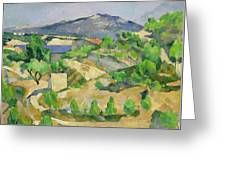 Mountains In Provence Greeting Card by Paul Cezanne