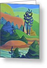 Hills In Spring Greeting Card