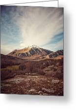 Mountains In The Background Xvii Greeting Card
