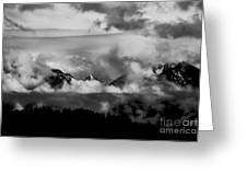 Mountains In The Clouds Greeting Card